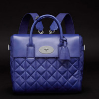 Mulberry-Cara-Delevingne-Quilted-Blue-Backpack