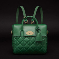 Mulberry-Cara-Delevingne-Quilted-Green-Packpack